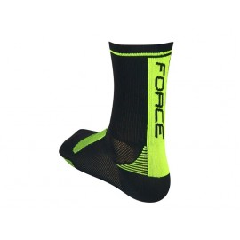 Calzetin Force Long Negro Fluo