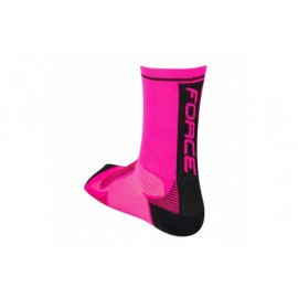 Calzetin Force Long Rosa Fluo