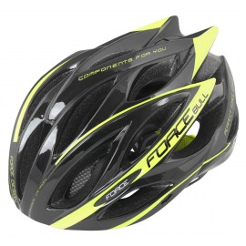 Casco Force BULL  Negro-Fluor