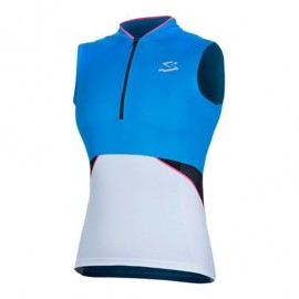 Maillot Spiuk Race Mujer Azul Blanco - Imagen 1