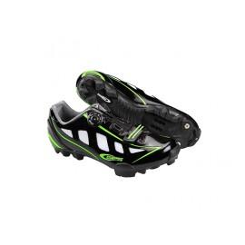 Zapatillas Ges Rider  Negro Verde - Imagen 1